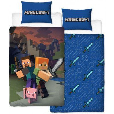 Minecraft - Reversible Good Guys Duvet Set - 135 x 200 cm