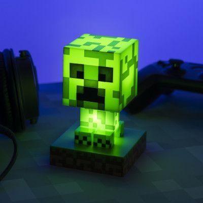 Minecraft Creeper 3D Lampa
