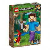 LEGO Minecraft 21148 - BigFig Steve med papegoja