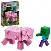 LEGO Minecraft 21157 BigFig Gris med zombiebaby