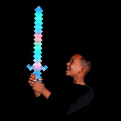 LED Svärd Pixel Blå