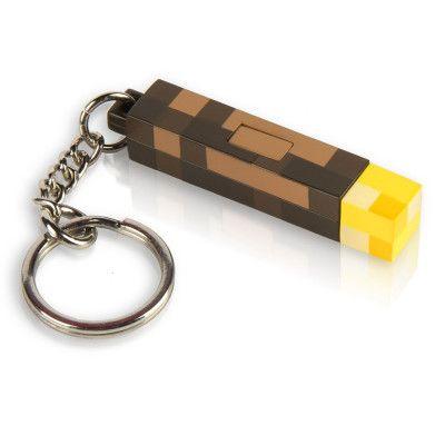 Minecraft 3D Torch Ficklampa