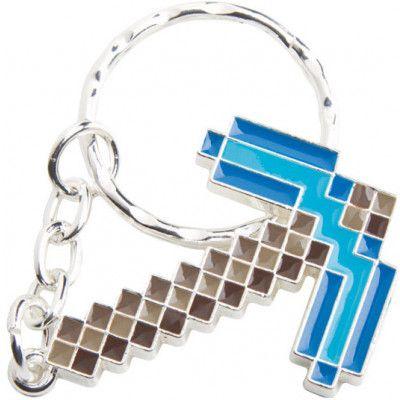 Minecraft - Diamond Pickaxe Metal Keychain