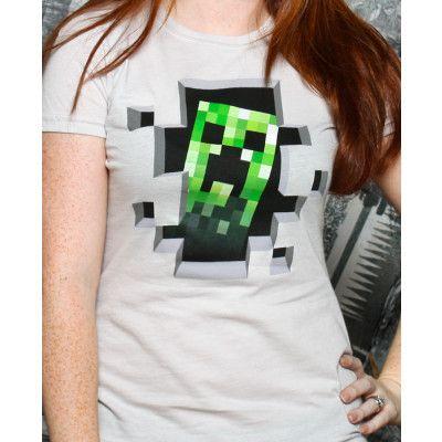 Minecraft Creeper Inside Dam T-shirt