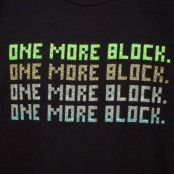 Minecraft One More Block T-shirt Svart