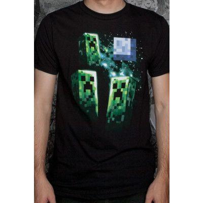 Minecraft Three Creeper Moon T-shirt